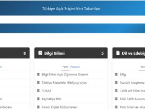 Türkiye Açık Erişim Veri Tabanları